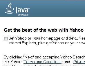 uncheck Yahoo
