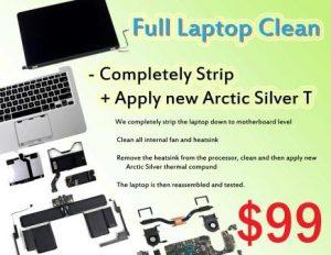 clean laptop