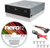 LG WH16NS40-KIT 16X Blu-ray BD/BDXL/MD M-DISC Burner Drive 3D Playback + Nero 12 Essentials Burning Software + Sata Cable Kit