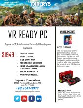 VR Ready Custom Build Gaming PC i7 16GB 500GB SSD GTX1060