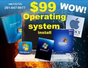 operating system installation katy tx
