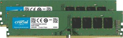 Crucial 16GB Kit (2x8GB) DDR4 2400MHz PC4-19200 288-Pin DIMM