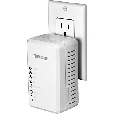 TRENDnet TPL-410AP Ethernet Over Power WAP 500AV + Wifi