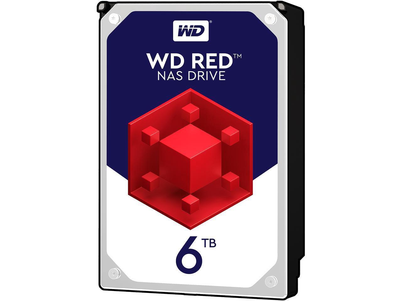 "WD Red WD60EFRX 6TB 3.5"" Internal NAS Hard Drive SATA 64MB"