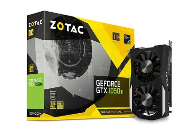 ZOTAC GeForce GTX 1050Ti OC-Series 4GBDDR5 DVI DP HDMI