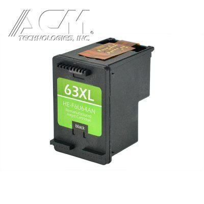 REMAN HEWLETT PACKARD 63XL (F6U64AN) INKJET CTG, BLACK, 480 HIGH YIELD