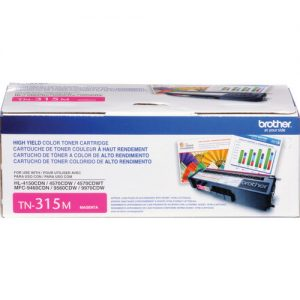 Brother Genuine TN315M High Yield Magenta Toner Cartridge - Laser - 3500 Pages - Magenta - 1 Each FOR HL-4150CDN, HL-4570CDW, HL-4570CDWT, MFC-9460CDN, MFC-9560CDW and MFC-9970CDW