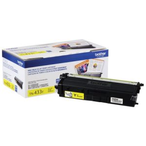 Brother TN433Y Original Toner Cartridge - Yellow - Laser - High Yield - 4000 Pages - 1 Each MFCL8610CDW L8900CDW