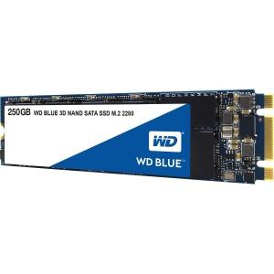 WD Blue 3D NAND 250GB PC SSD - SATA III 6 Gb/s M.2 2280 Solid State Drive - 550 MB/s Maximum Read Transfer Rate - 525 MB/s Maximum Write Transfer Rate SSD