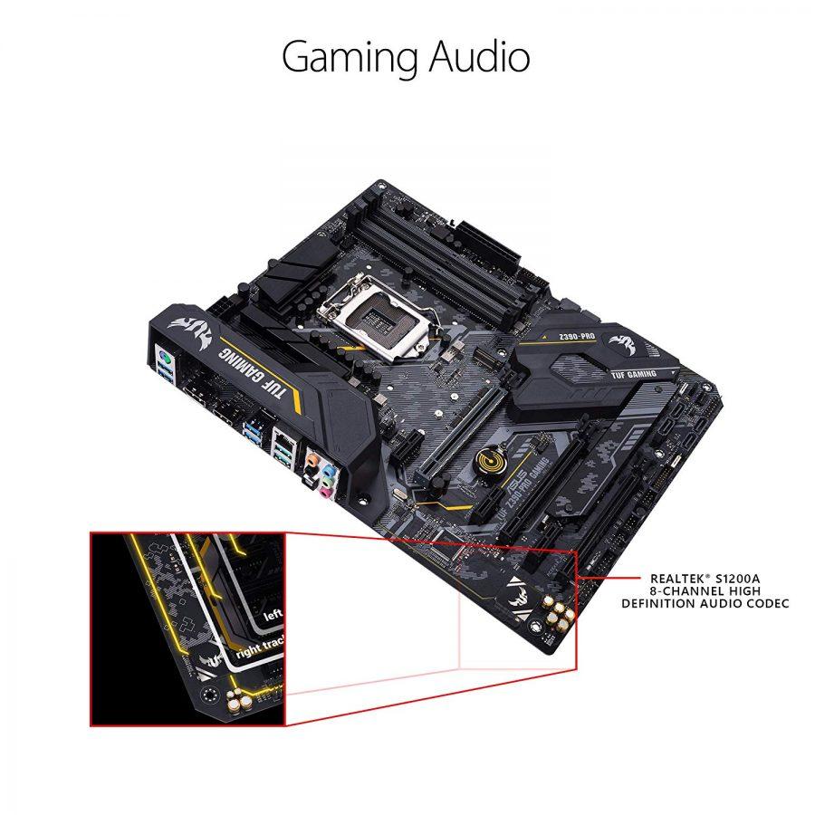 ASUS TUF Z390-Pro Gaming LGA1151 (Intel 8th and 9th Gen) ATX DDR4 HDMI M.2 USB 3.1 Gen2 Gigabit LAN Motherboard