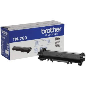 Brother Genuine TN-760 High Yield Toner Cartridge - Black - Laser - High Yield - 3000 Pages - 1 Each LASER MACHINES