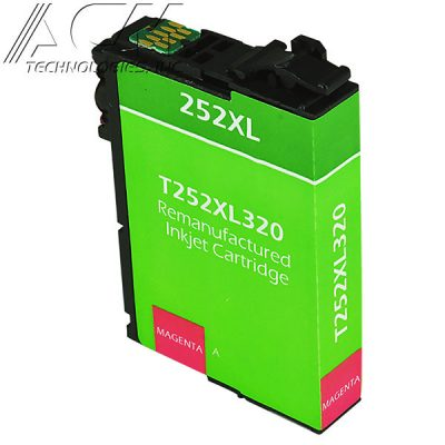 REMAN EPSON 252XL (T252XL320) INKJET CTG, MAGENTA, 1.1K HIGH YIELD