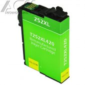 REMAN EPSON 252XL (T252XL420) INKJET CTG, YELLOW, 1.1K HIGH YIELD