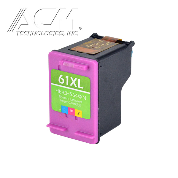 REMAN HEWLETT PACKARD 61XL (CH564WN) INKJET CTG, COLOR, 450 HIGH YIELD, TRI-COLOR *1
