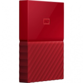WD My Passport WDBYNN0010BRD-WESN 1 TB Hard Drive - External - Portable - USB 3.0 - Red - 256-bit Encryption Standard