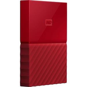 WD My Passport WDBYNN0010BRD-WESN 1 TB Hard Drive - External - Portable - USB 3.0 - Red - 256-bit Encryption Standard
