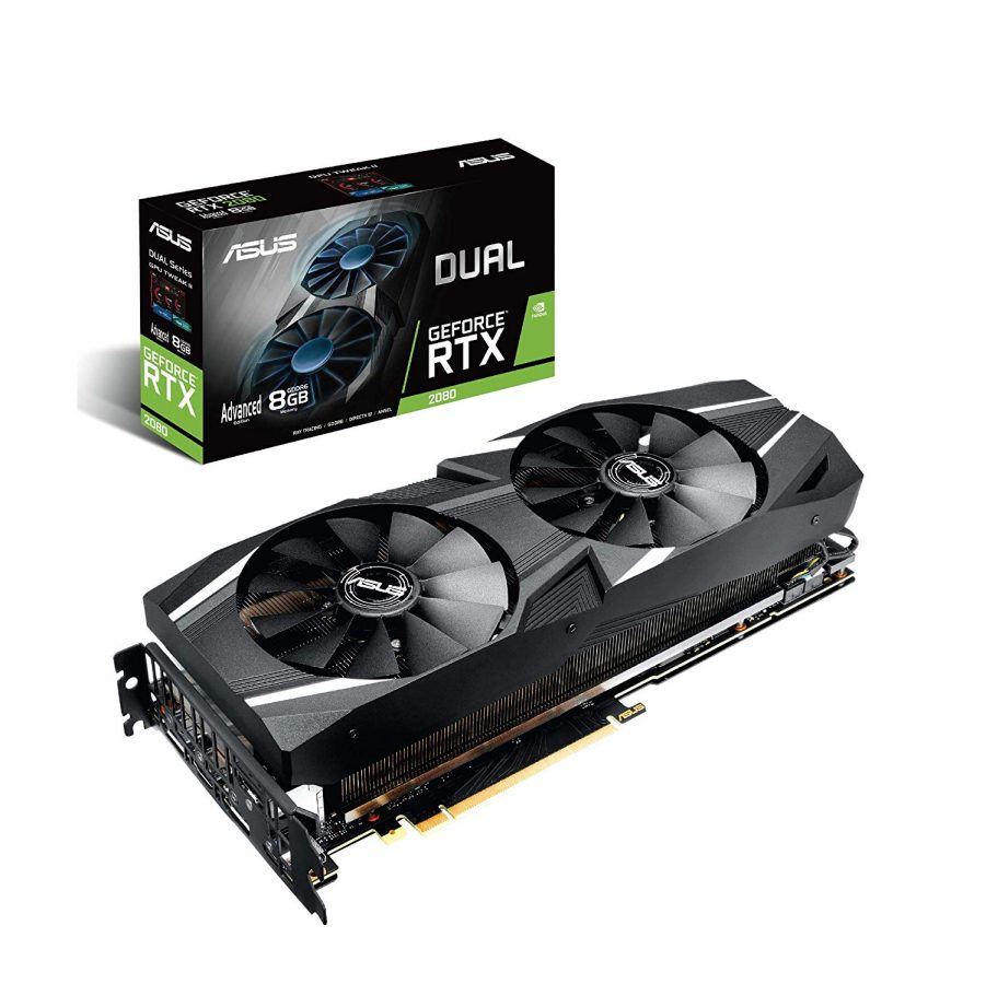 ASUS Dual RTX2080 A8G VR Ready Gaming Graphics Card - Turing Architecture (Dual RTX2080-A8G) Graphic Cards DUAL-RTX2080-A8G