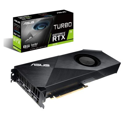 ASUS GeForce RTX 2070 8G Turbo Edition GDDR6 HDMI DP 1.4 USB Type-C Graphic Card (TURBO-RTX2070-8G)