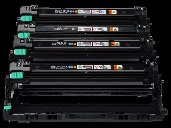 Brother Genuine DR221CL Color Laser Drum Unit - 4 / Carton - OEM PRINTERS MFCS 4PACK
