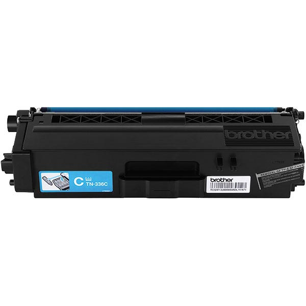 Brother Genuine TN336C High Yield Cyan Toner Cartridge - Laser - High Yield - 3500 Pages - Cyan - 1 Each FOR HLL8250CDN 8350CDW 8350CDWT