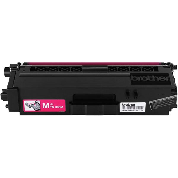 Brother Genuine TN336M High Yield Magenta Toner Cartridge - Laser - High Yield - 3500 Pages - Magenta - 1 Each FOR HLL8250CDN 8350CDW 8350CDWT