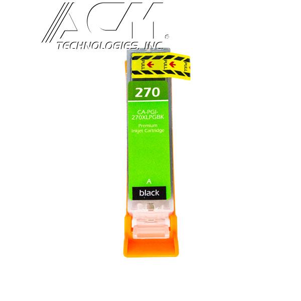 COMPATIBLE CANON PGI-270XL (0319C001) INKJET CTG, PIGMENT BLACK, 500 HIGH YIELD