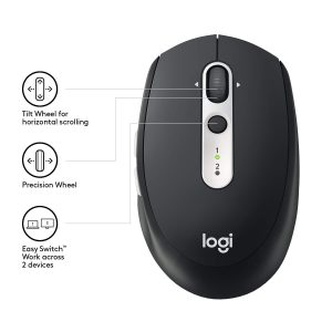 Logitech M585 Multi-Device Wireless/BT Mouse Black USB