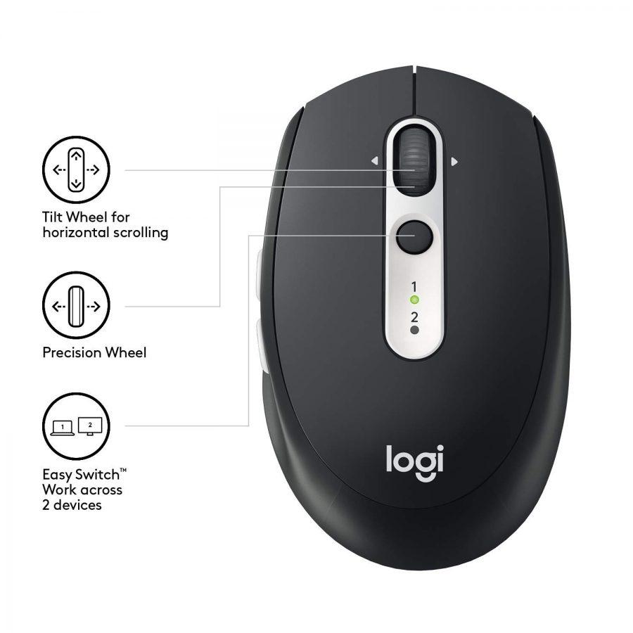 Logitech M585 Multi-Device Wireless/BT Mouse Black USB