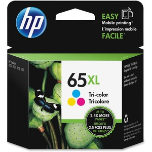 HP 65XL (N9K03AN) High Yield Tri-color Original Ink Cartridge (300 Yield)