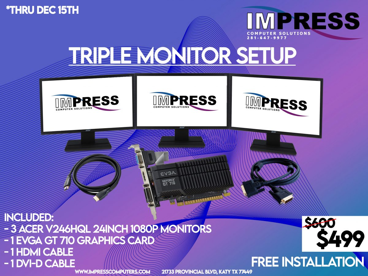 triple monitor special