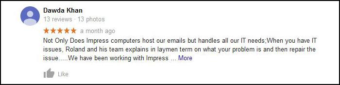 google review - Dawda Khan