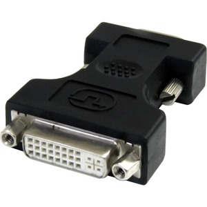 DVI to VGA Cable Adapter - Black - F/M - 1 x HD-15 Male VGA - 1 x DVI-I (Dual-Link) Female Digital Video - Black