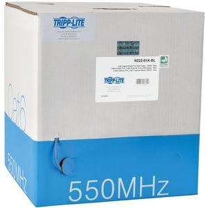 Tripp Lite 1000ft Cat6 550MHz Gigabit Bulk Solid PVC CMR Cable Blue 1000