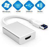 USB to HDMI Adapter, USB 3.0 to HDMI Cable Multi-Display Video Converter
