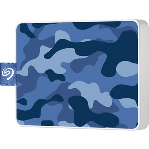 Seagate One Touch 500 GB Portable Solid State Drive - External - Camo Blue - USB 3.0 SSD USB 3.0 BLUE