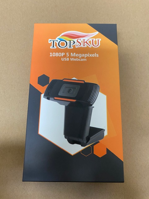 Topsku 1080P USB Webcam 5 Megapixels Auto Focus
