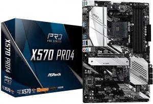 ASROCK X570 PRO4 AMD Ryzen AM4 DDR4 HDMI DP M.2 USB Motherboard