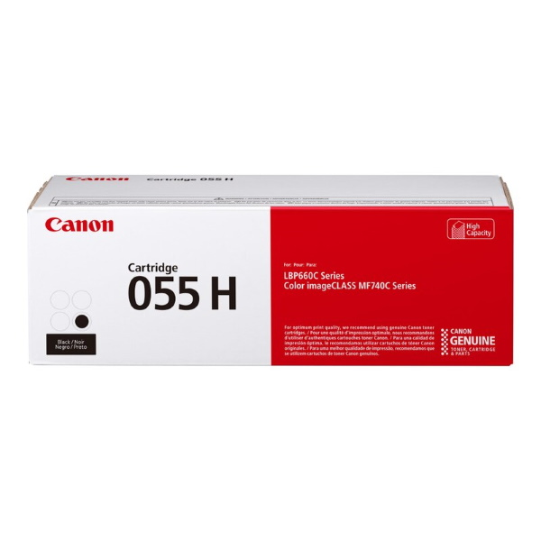 Canon (CRG-055 BK H) High Yield Black Toner Cartridge (7,600 Yield)