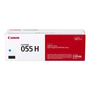 Canon (CRG-055 C H) High Yield Cyan Toner Cartridge (5,900 Yield)