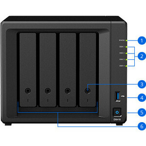 Synology DiskStation DS418+4-Bay Diskless NAS GBE Server