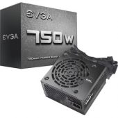 EVGA 750W Power Supply - Internal - 120 V AC, 230 V AC Input - 750 W
