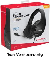 HyperX Cloud Stinger Core - Gaming Headset, for PC, 7.1 Surround Sound, Noise Cancelling Microphone, Lightweight
