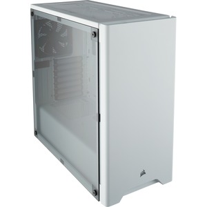 """Corsair Carbide 275R Computer Case - Mid-tower - White - Steel, Plastic, Acrylic - 4 x Bay - 2 x 4.72"""" x Fan(s) Installed - 0 - ATX, Micro ATX, Mini ITX Motherboard Supported - 18.87 lb - 6 x Fan(s) Supported - 2 x Internal 3.5"""" Bay - 2 x Internal 2.5"""" Bay - 7x Slot(s) - 2 x USB(s) - 1 x Audio In - 1 x Audio Out MID-TOWER GAMING CASE WHITE"""
