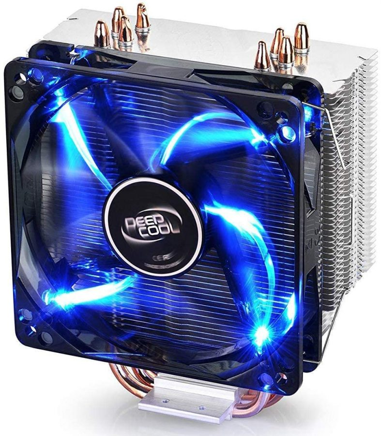 DEEPCOOL GAMMAXX400 CPU Air Cooler with 4 Heatpipes, 120mm PWM Fan and Blue LED for Intel/AMD CPUs (AM4 Compatible)