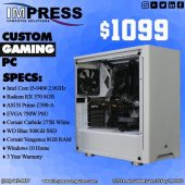 Custom Built Gaming PC i5 RX570 8GB GPU 500GB SSD 8GB DDR4 Ram Win10Home 3 Year Warranty