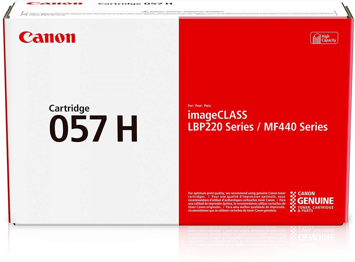 Canon 057H Original Toner Cartridge - Black - Laser - High Yield - 10000 Pages