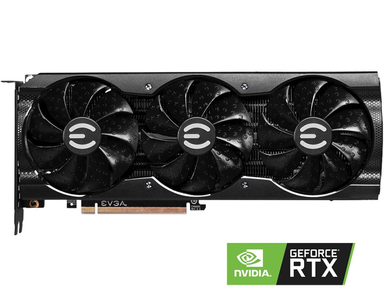 EVGA GeForce RTX 3070 XC3 BLACK GAMING Video Card, 08G-P5-3751-KR, 8GB GDDR6, iCX3 Cooling, ARGB LE
