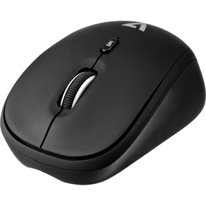 Wireless Optical Mouse with Adjustable DPI - Black - Optical - Wireless - Radio Frequency - 4 Button