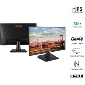 """ASUS 23.8"""" LCD Monitor 1080p 5ms VGA HDMI DVI 75Hz"""