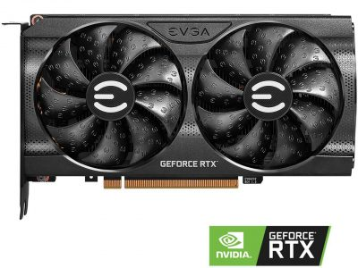 EVGA GeForce RTX 3060 Ti XC GAMING Video Card, 08G-P5-3663-KR, 8GB GDDR6, iCX3 Cooling, Metal Backplate